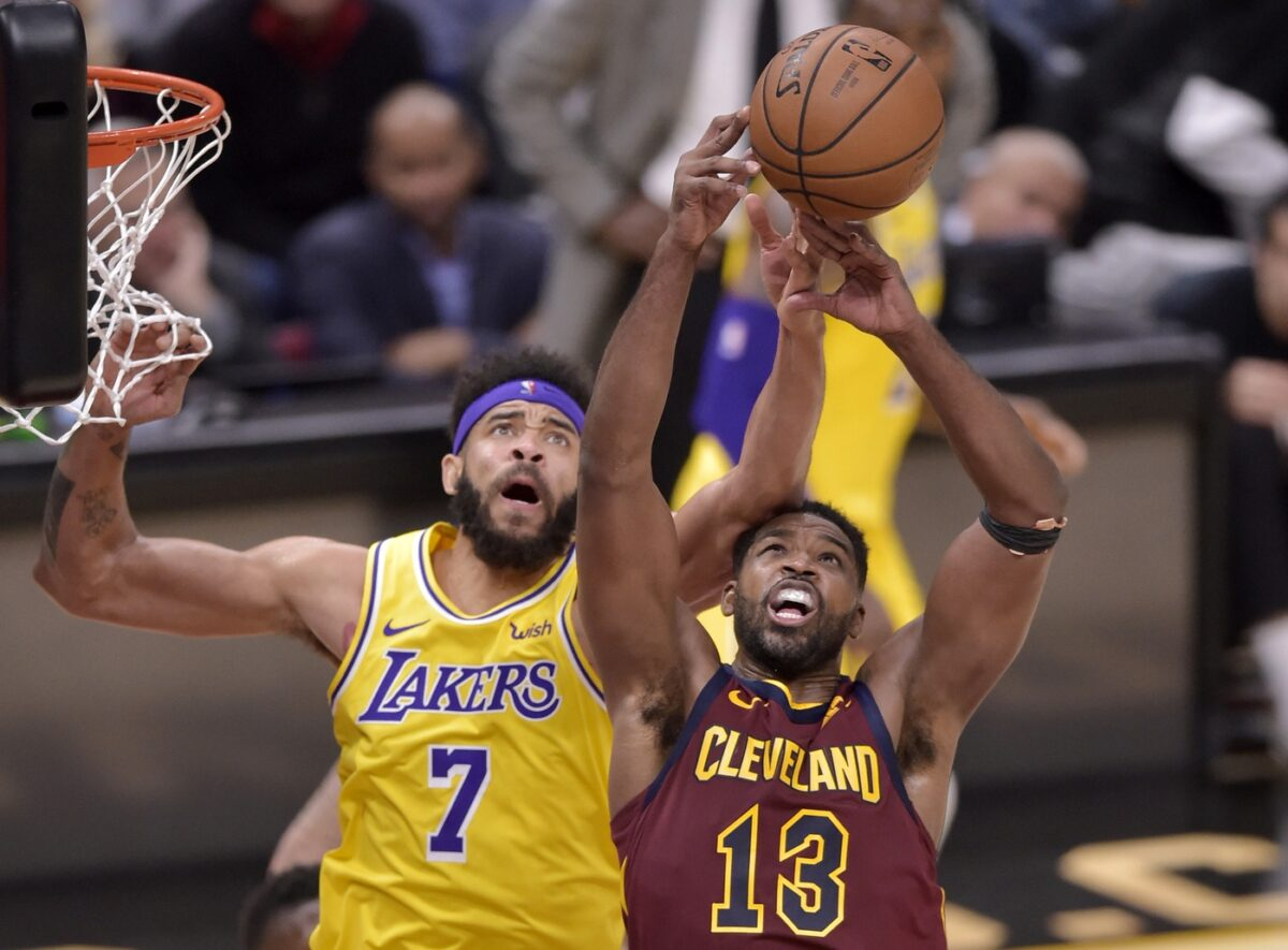 JaVale McGee and Tristan Thompson