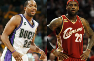 Michael Redd and LeBron James