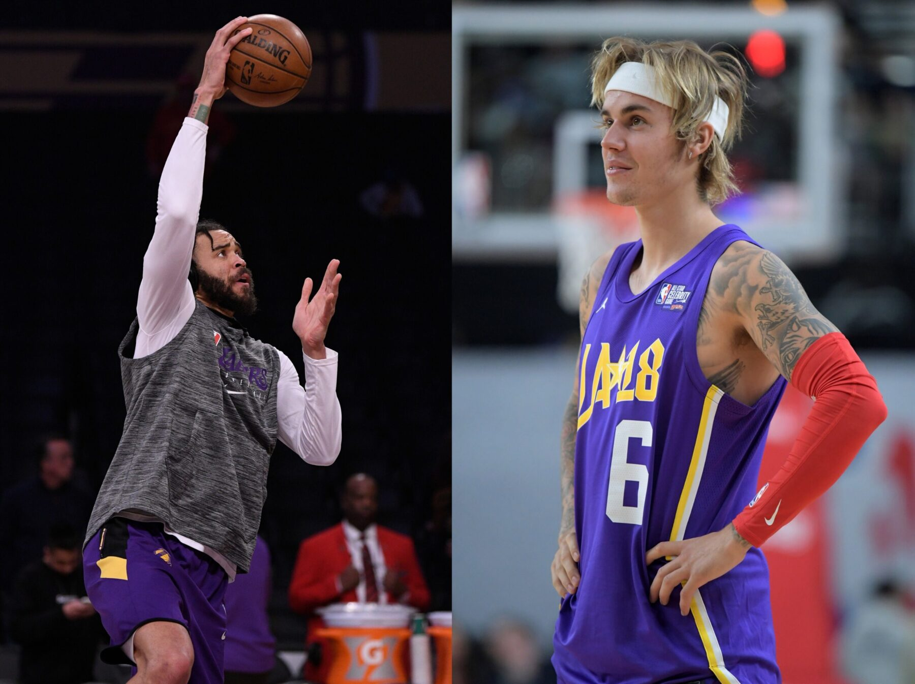 JaVale McGee and Justin Bieber