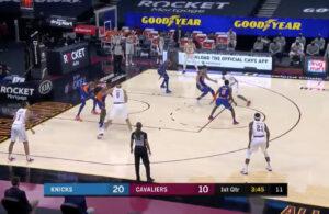 Darius Garland drops Kevin Knox