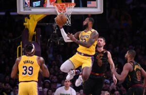LeBron James Lakers Cavs