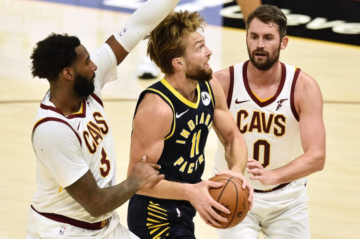 Kevin Love, Andre Drummond and Domantas Sabonis