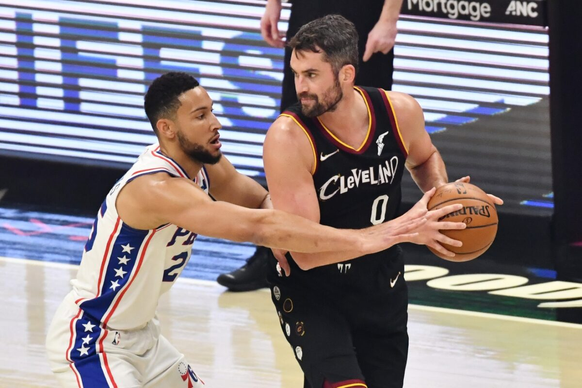 Kevin Love and Ben Simmons