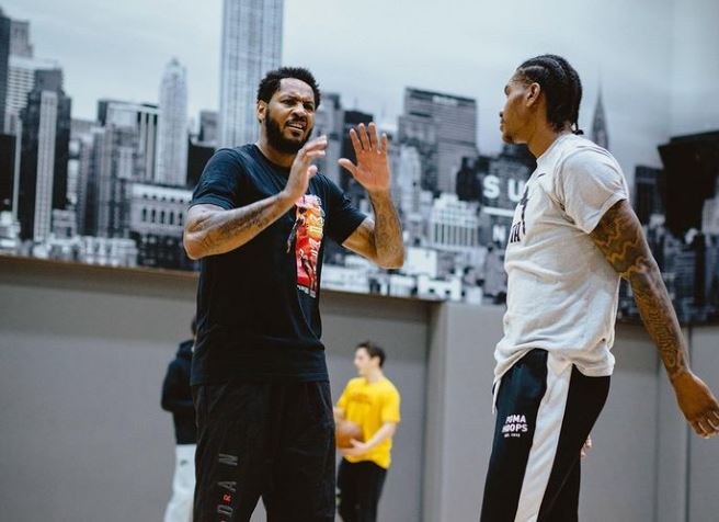 Carmelo Anthony and Kevin Porter Jr.