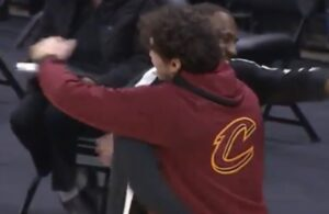 LeBron James and Cedi Osman