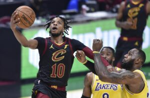 Darius Garland and LeBron James