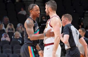 Kevin Love and DeMar DeRozan