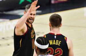 Kevin Love and Dean Wade