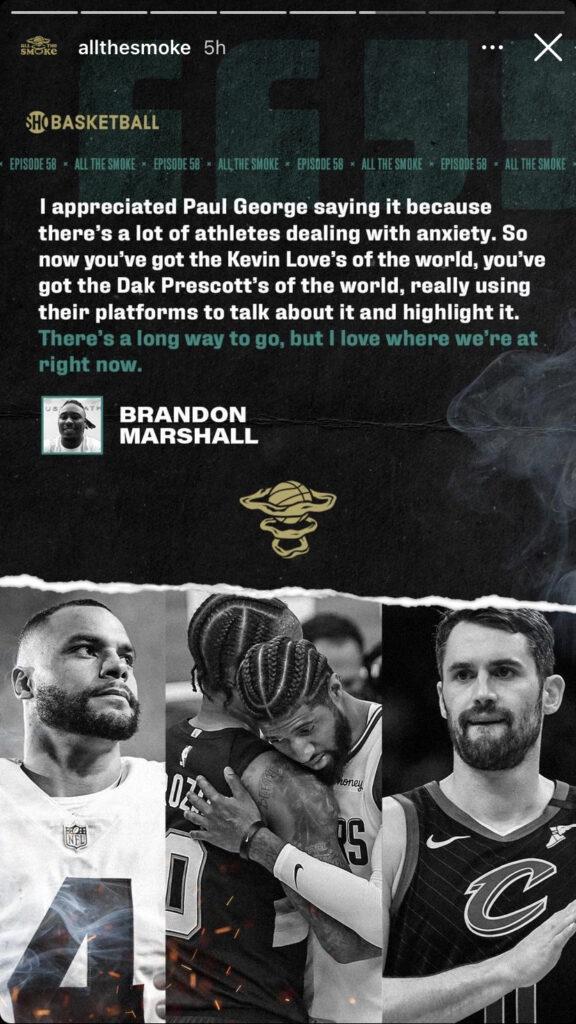 Brandon Marshall and Kevin Love