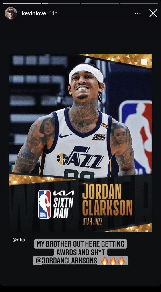 Jordan Clarkson and Kevin Love