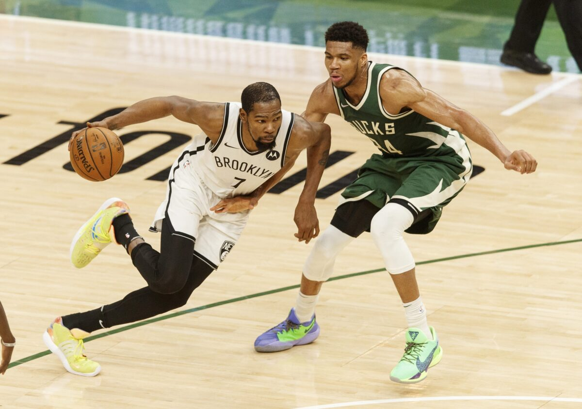 Kevin Durant and Giannis Antetokounmpo