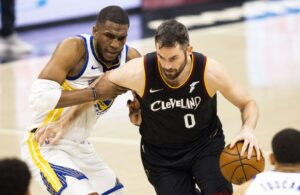 Kevin Love and Kevon Looney