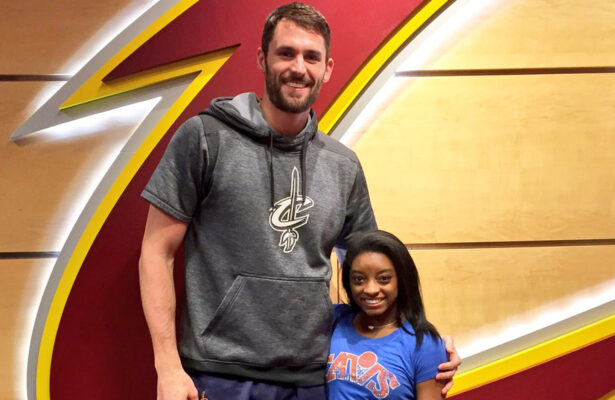 Kevin Love and Simone Biles
